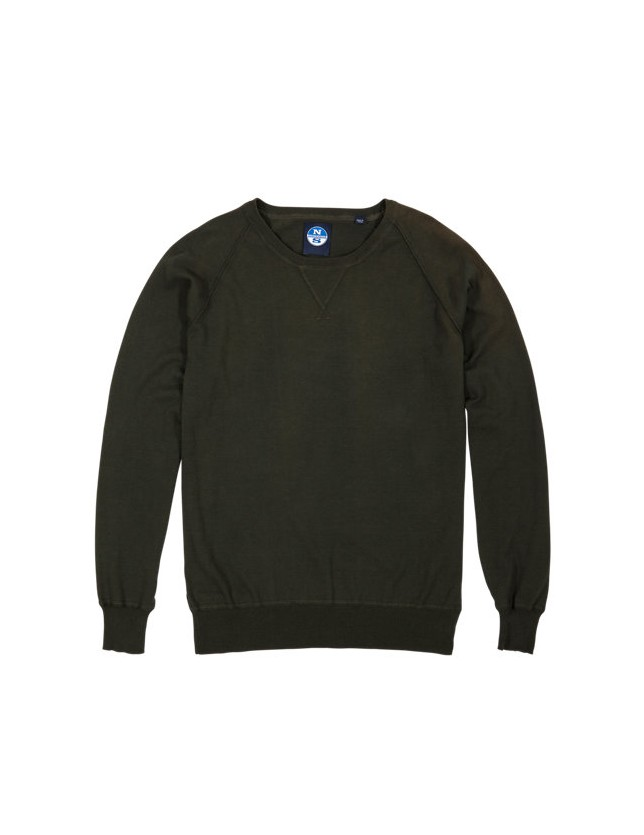 JERSEY NORTH SAILS CREW-NECK W/PATCH